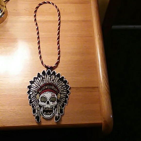 Other - Hand made Native American beaded medallion and nec